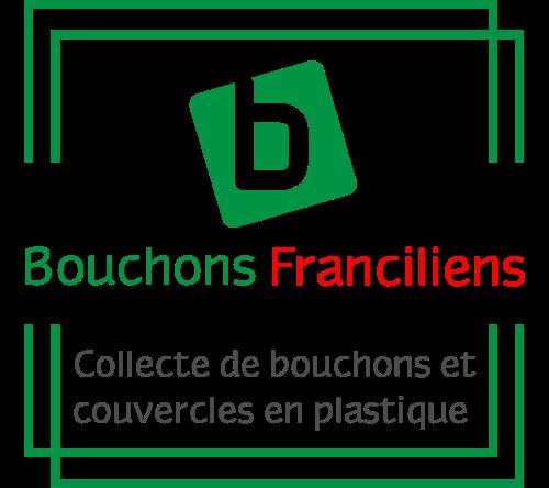 Logo de l'association Bouchons Franciliens qui collecte les bouchons en plastique en Ile-de-France